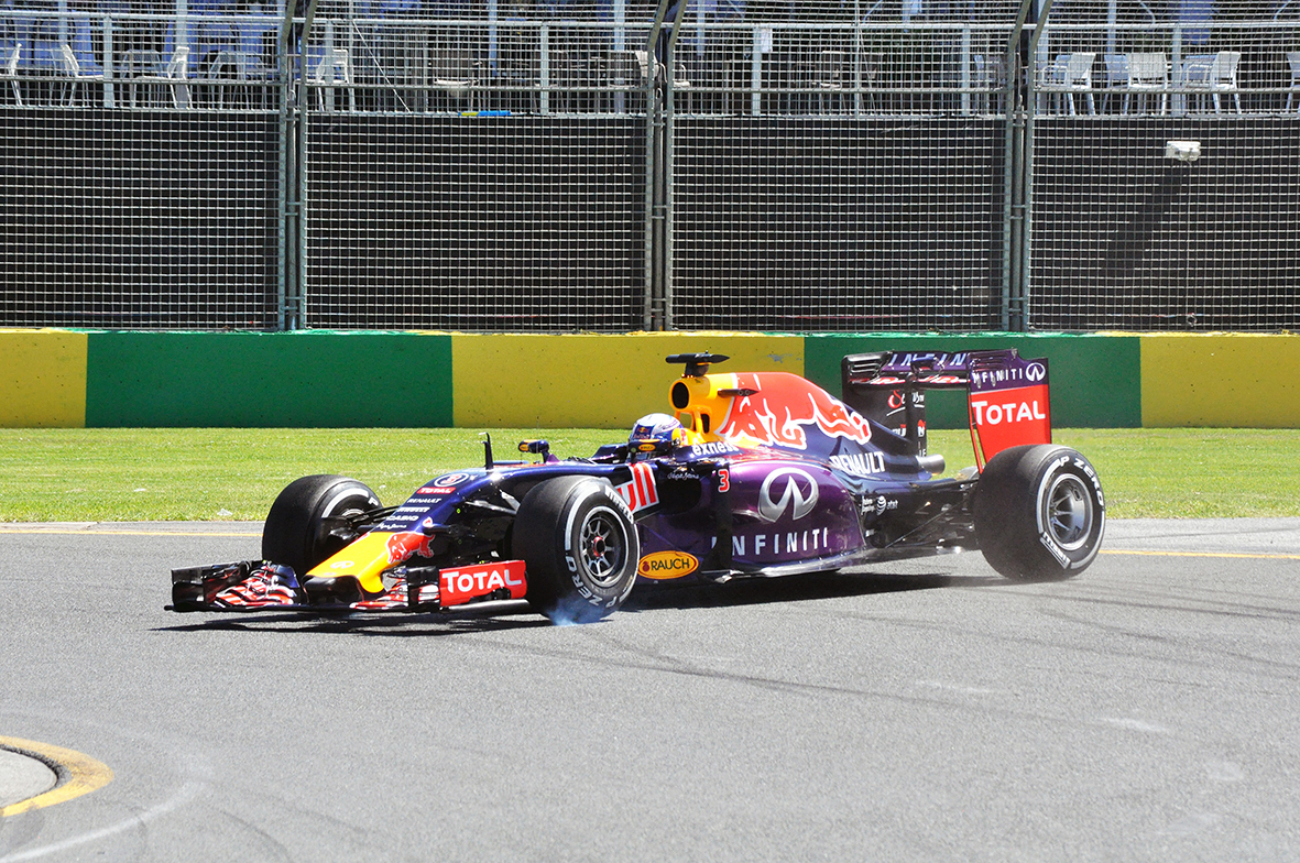 Daniel Ricciardo had a dirty weekend, spinning on Friday