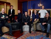 Hunters and Collectors Sept 2013 by Martin Philbey L - R Jack Howard, Jeremy Smith, Michael Waters, Mark Seymour, Barry Palmer, John Archer, Doug Falconer