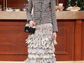 Wool Tweed Jacket – AU$8,130.00  Tweed & Feathers Skirt – AU$ POA