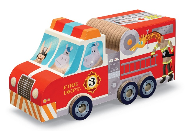 Crocodile Creek - Puzzle & Play Sets - Fire Station RRP $24.95