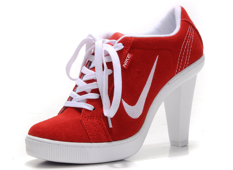 Women-Nike-High-Heels-Low-Red-White