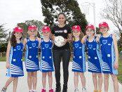 HGA_Mel McLaughlin and netballers
