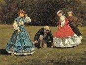 3c Winslow Homer (American artist, 1836-1910) Croquet Scene