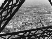 A view of the Paris buildings  and the river Seine from the  Eiffel Tower        Date: 1960s