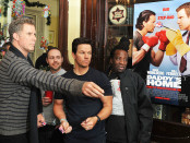 """DUBLIN, IRELAND - DECEMBER 7: Will Ferrell and Mark Wahlberg attends a meet & greet with fans in Dublin ahead of the Dublin Premiere of """"Daddy's Home"""" at the Savoy Cinema on December 7, 2015 in Dublin, Ireland. (Photo by Clodagh Kilcoyne /Getty Images for Paramount Pictures)"""