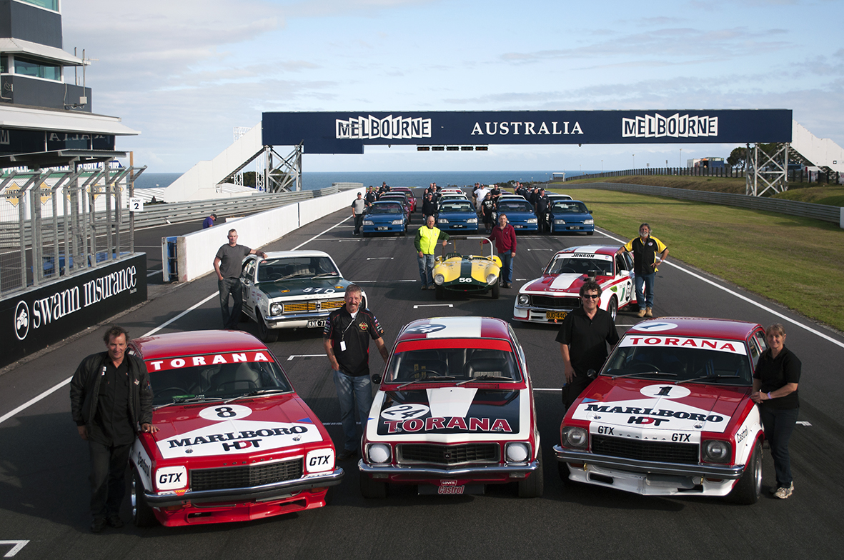 Historic touring cars are always a popular Philip Island Classic attraction.