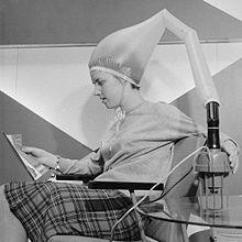 Bonnet hair dryer, 1962