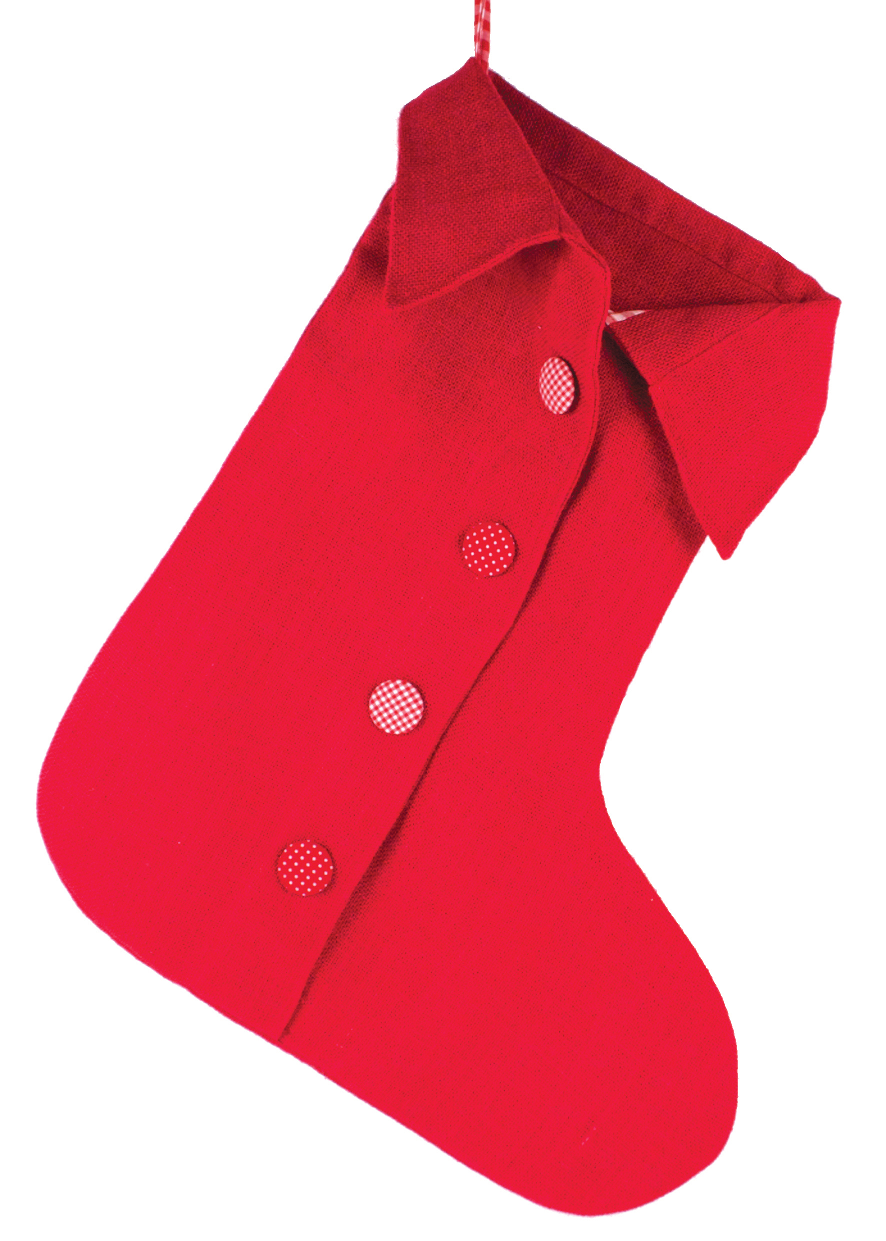 Christmas Stocking, red jute - Annabel James – www.annabeljames.co.uk – RRP AU$29.30