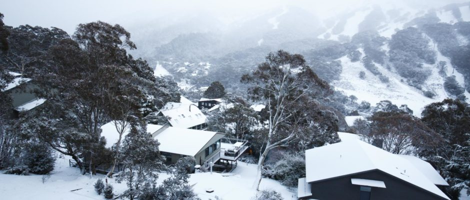 looking over Thredbo village.