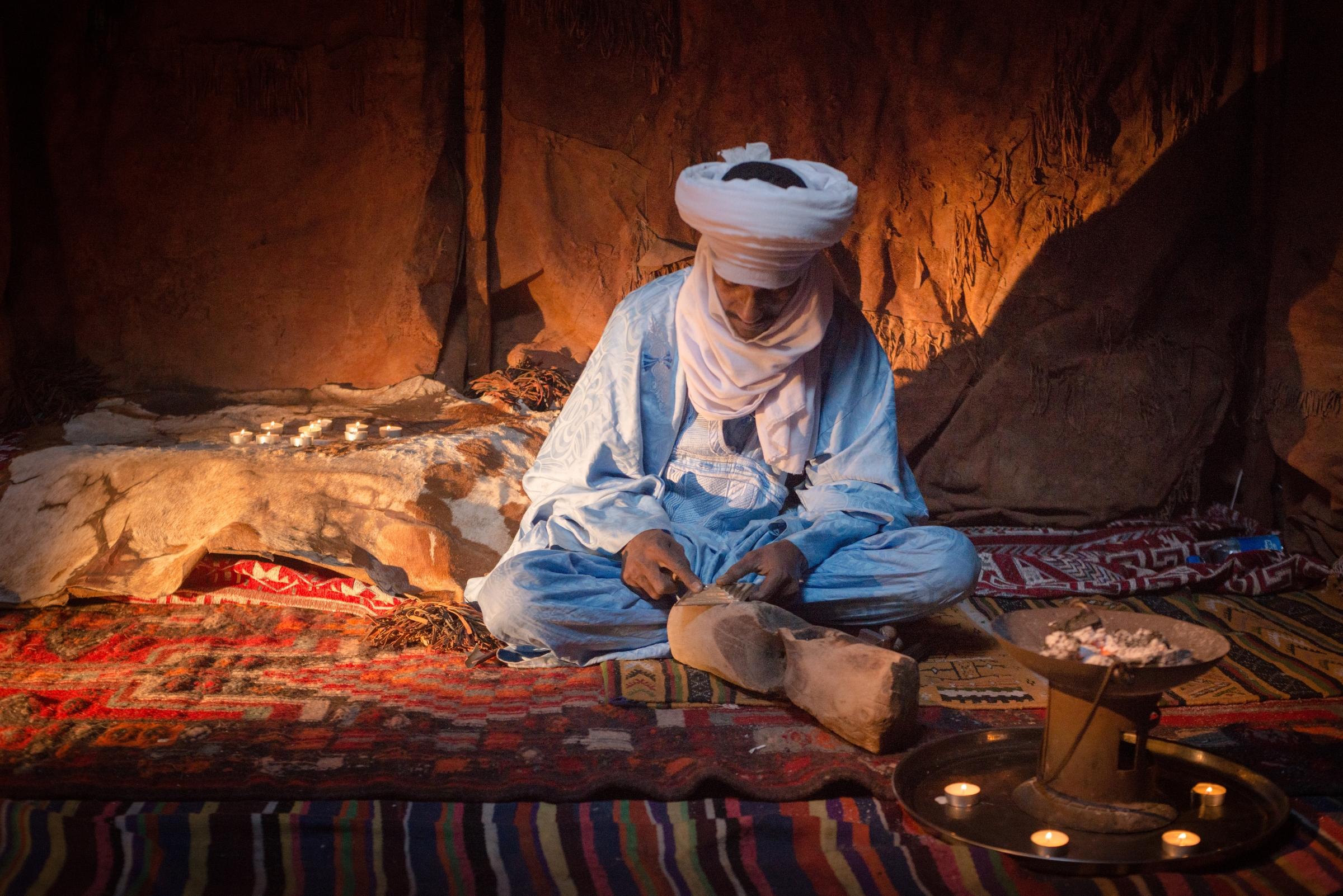 Tuareg man in Algeria.