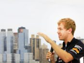 Vettel and NY skyline