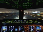 AIRPLANES_Cockpit_Night_Landing_4k