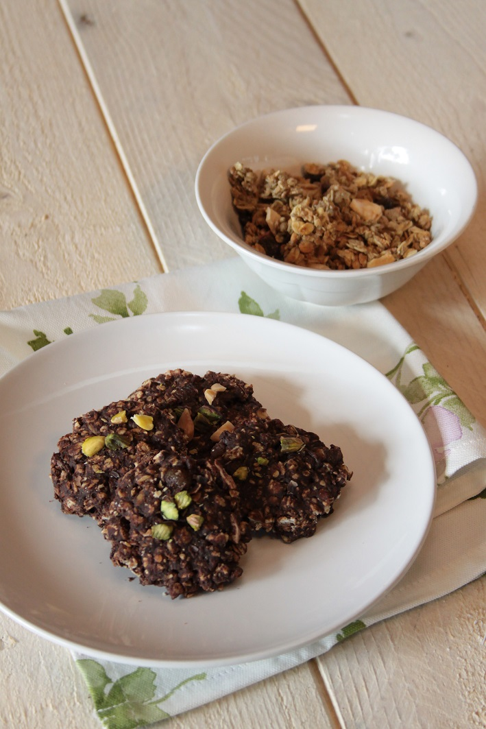 Cocoa Carrot Cookies with Pistachios